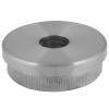 Stainless steel railing construction tube caps flat, with hole