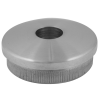 Stainless steel railing construction tube caps convex, with hole