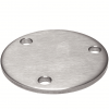 Stainless steel railing construction anchors and flanges circular blanks with drill hole
