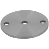 Stainless steel railing construction anchors and flanges with drill hole Centre/ 2 x outer