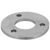 Stainless steel railing construction anchors and flanges with drill hole Centre/ 3 x outer