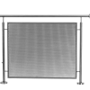 Stainless steel railing construction crossbar/sheet holders Plate holder