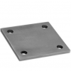 Stainless steel railing construction anchors and flanges plates