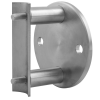 Stainless steel railing construction anchors and flanges post sockets