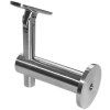 Stainless steel railing construction handrail brackets and supports with joint height-adjustable
