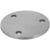 Stainless steel railing construction anchors and flanges with drill hole 3 x outer