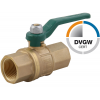 Stainless steel ball valves threaded ends 2-piece & full bore DVGW brass