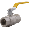 Stainless steel ball valves threaded ends 2-piece & full bore DVGW brass approval for gases