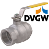 Stainless steel ball valves threaded ends approval for gases max. 5 bar