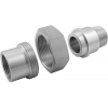 "Stainless steel unions conical seat PN 50/ 100 ""inches""- union nuts individual parts/ kit"
