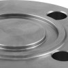 Stainless steel blind flanges DIN / EN PN 16 with groove