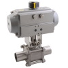 Stainless steel ball valves with actuator pneumatic orbital