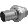 "Stainless steel unions conical seat PN 50/ 100 ""inches""- union nuts hose nozzle connection"